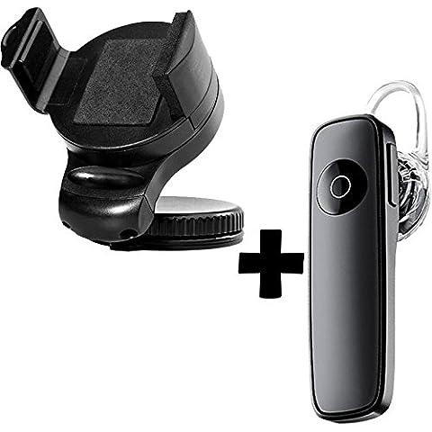 Original Lanboo® KFZ LKW PKW Auto Car Holder Carkit Halter Autohalterung + Bluetooth V4.1 Headset Musik Music Kopfhörer Ohrhörer Hörer mit Mikrofon und Multipoint Technologie Für Sony Xperia XA, Xperia X, Xperia Xz, Xperia XZ Premium