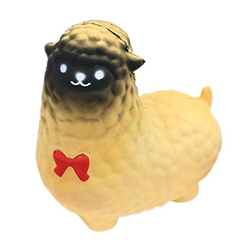 fat. chot Squishy Spielzeug niedliche Jumbo Schaf Animal langsam Rising Squeeze Funny Weiche Dekoration Geschenk lindert Stress Spielzeug für Kinder Erwachsene, PU, gelb, - Halloween Happy Schafe