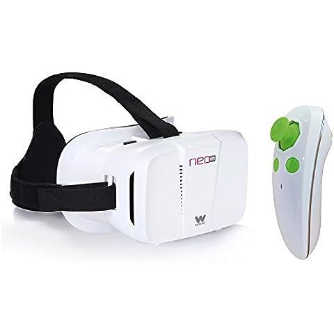 Woxter Neo VR1 - Kit gafas de realidad virtual 3D para smartphone con mando a distancia, color blanco