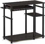 Furinno Abbott Computer Desk with Bookshelf, Espresso/Black, 17097EX/BK