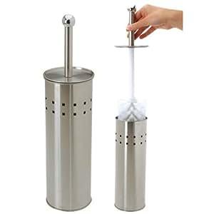 Edelstahl WC-Bürste - Toilettenbürste & Halter - Klobürste - WC Garnitur - Toilette