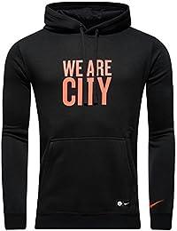 Nike M Nsw Hoodie Po Cre - Sudadera línea Manchester City F.C. para hombre, color negro, talla M