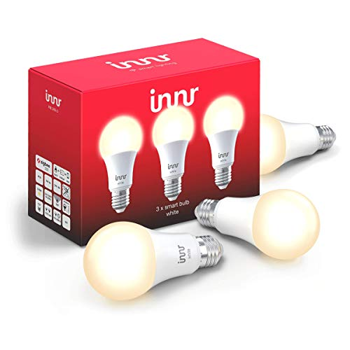 Innr E27 Smart LED Lampe, warmweißes Licht, dimmbar, kompatibel mit Echo Plus und Philips Hue*, RB 265 (RB 265-3) - Plus Drei Licht