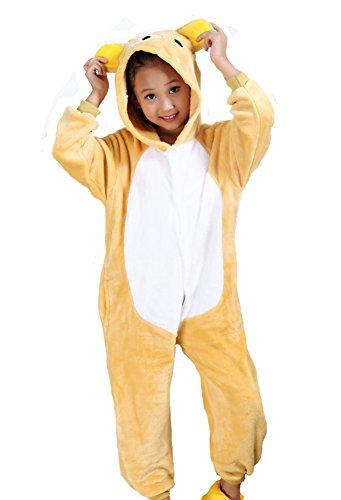 Tonwhar® Kinder Halloweenkostüm/Faschingskostüm, einteiliger Anzug in Tieroptik - 125(Suggest Height:135cm-140cm) - Rilakkuma