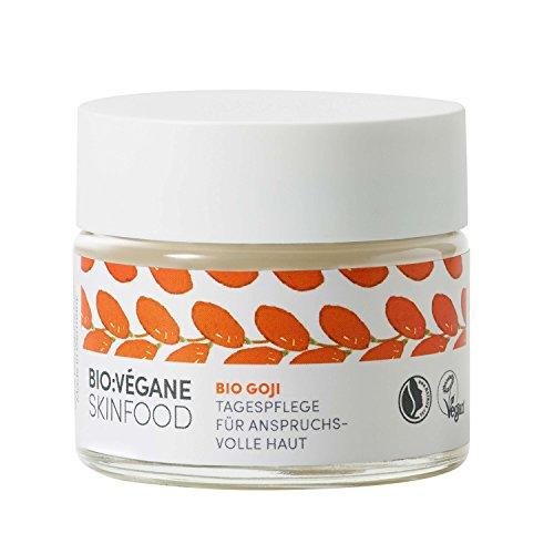 BIO:VÉGANE SKINFOOD Bio Goji -Tagespflege für anspruchsvolle Haut, vegan, NATRUE-zertifiziert, Anti-Aging, Naturkosmetik mit Arganöl, 1er...