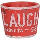 [Sponsored]Scrafts Laugh Red Artificial/faux/original Flowers/plants Cement Vases For Home Décor/living Room Décor/party Décor/wedding Décor/office Décor LWH(cms)=9x9x7.5