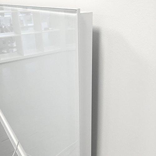 VASNER Citara Glas Infrarotheizung 650 Watt weiß 62 x 92 cm Wandmontage mit Bild 2*