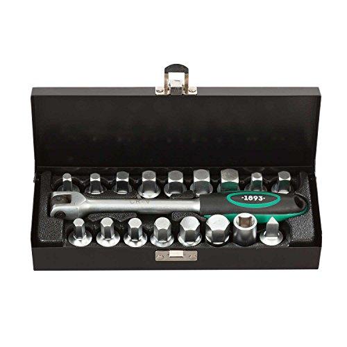 Set chiavi a bussola per viti scarico olio da 17 pezzi | WIESEMANN 1893 | attacco da 3/8″ incluso I 80232