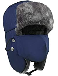 2c6c1ef2ffce0d Petrunup Russian-Hat, Faux Fur Waterproof Trapper-Hat Winter Snow Ski  Bomber Hats
