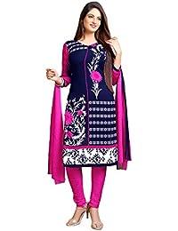 A K Designer Women's Chiffon Dress Material (Mehak9003_Free Size_Blue)