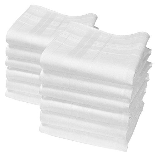 """""""Camille"""" weiße Taschentücher - Ca. 35cm - 12 Stücke"""