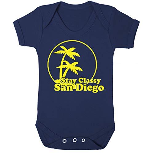 (Cloud City 7 Stay Classy San Diego Anchorman Baby Grow Short Sleeve)