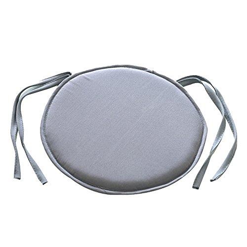 URIJK Rund Stuhl Kissen Einfarbig Sitz Pillow Sitzkissen Stuhl Auflage Küche Matte Matratze Kissen mit Krawatte(40cmx40cm)