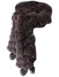 68a6fc053124 Cinnamou Mode Femmes Foulards D hiver De Fourrure De Lapin Écharpe Casual Fourrure  Écharpes Fourrure