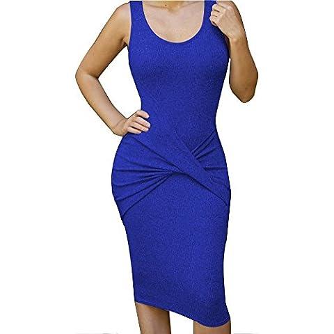 ALAIX Atractivo vestido para mujer de cuerpo entero, falda por debajo de la rodilla, de noche y sin mangas