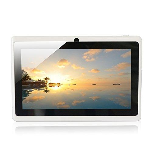 Quad core Yuntab 7 pouces Tablette Tactile Allwinner A33 HD 1024 X 600 Tablette PC Android 4.4.2 KITKAT 8 Go WiFi Support 3D Jeux Google Play Store Youtube Netflix Jeux Blanc