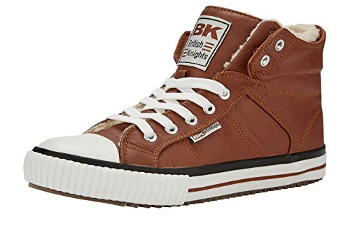 British Knights Roco, Baskets Hautes Mixte Enfant Marron (cognac)