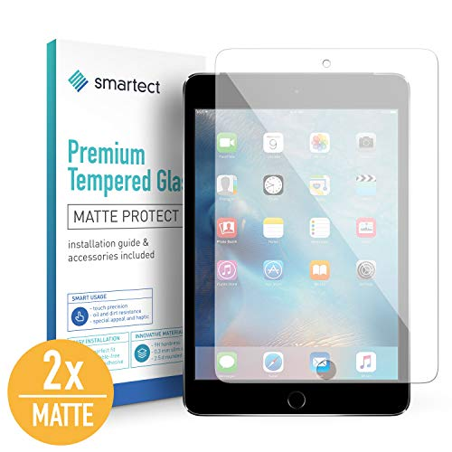 smartect Mattes Panzerglas für iPad Mini/Mini 2 / Mini 3 [2X MATT] - Displayschutz mit 9H Härte - Blasenfreie Schutzfolie - Anti Fingerprint Panzerglasfolie