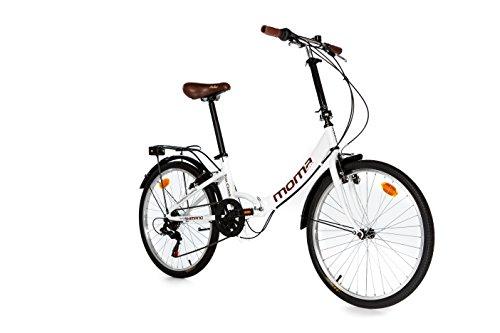 Moma Bikes Bicicleta Plegable Urbana  TOP CLASS 24' Alu, SHIMANO 6V. Sillin Confort