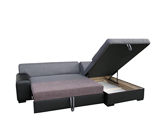 Dennis Designer Sofa mit Schlaffunktion, luxus, bequeme sofas, Schnekelmaß 260 x 175 cm, Sofabett Couchbett, Ottomane Rechts - 3