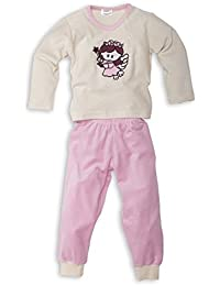Nicki Schlafanzug mit Bündchen am Beinabschluss für Mädchen - Moonline