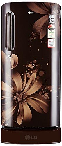 LG 190 L 3 Star Direct-Cool Single Door Refrigerator (GL-D201AHAW.AHAZEBN, Hazel Aster)
