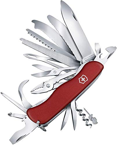 Victorinox Taschenmesser Work Champ XL (31 Funktionen, Grosse Klinge, Drahtschneider, Schere) rot