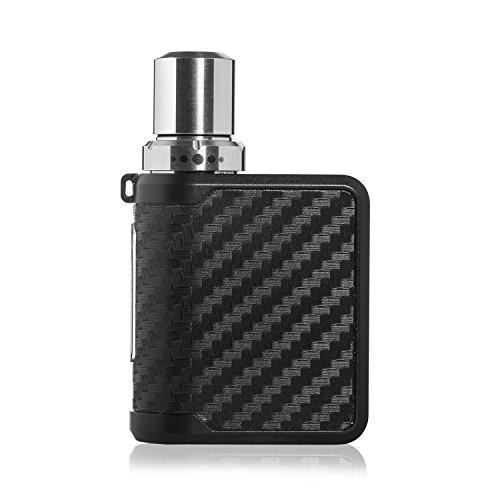 E Shisha Box Mod Set,E-Zigarette 35W Starterset,Elektrische Zigaretten mit Top Refill 0.75ohm/2.0ml Verdampfer Tank, 20350 Integriertem Batterie,Cigs Ohne Nikotin und E-liquid(carbon black)