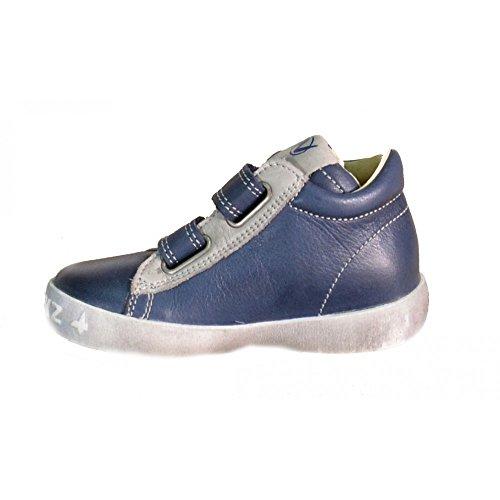 Naturino Must unisex bambino, pelle liscia, sneaker alta Blu
