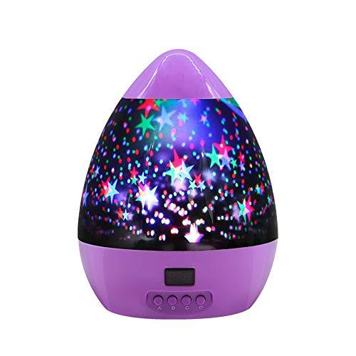 tionslampe bunte Sterne Mond drehende USB-Lichter können zeitgesteuert werden, lila ()