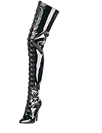 4407298f1607 Higher-Heels PleaserUSA Overknee-Stiefel Seduce-4026 extra lang