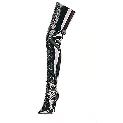 extra lange overknee stiefel Pleaser Overknee-Stiefel Seduce-4026 extra lang Lack schw. 47