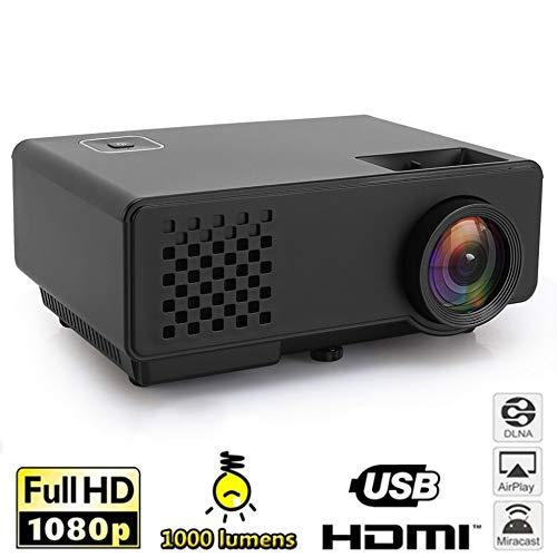 KAIDILA Projektor, HD-RD810-Mini-Projektor 1000Lumens Portable Mini LED Video Beamer RD-810 Videospiel Home 3D Film HDMI VGA USB-P Rojector 810 Usb