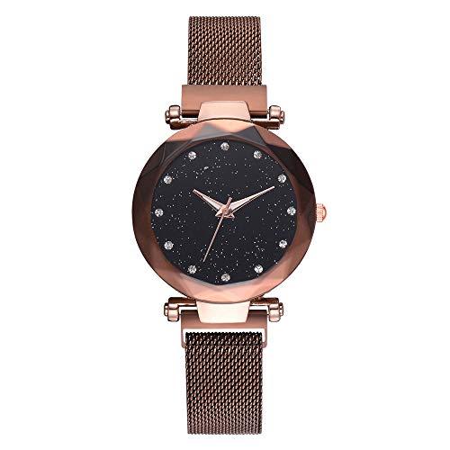 Uhren Damen Armbanduhr Frauen Mode beiläufige Quarz Maschen Gurt Uhr analoge Armbanduhr Strass-Luxus Wrist Watch Exquisit Uhr Quarz Analoge Armbanduhr,ABsoar