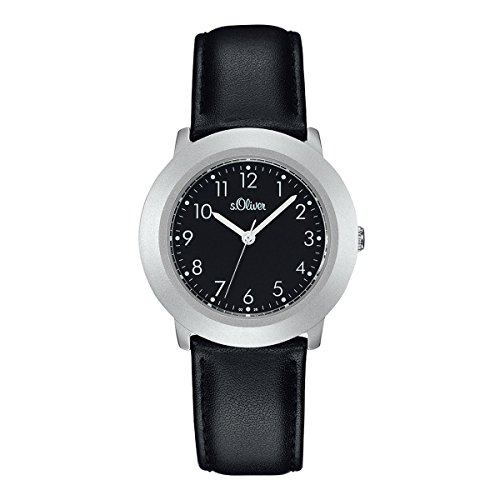 s.Oliver Damen-Armbanduhr Analog Quarz Leder SO-15015-LQR