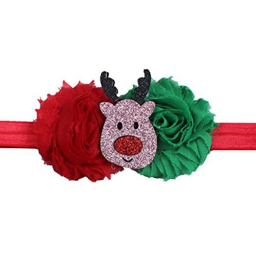 nachtsbaum-Stirnband-Kleinkind-Blumen-Patchwork-Kopfschmuck Bunt neues Jahr Infant elastische Haar-Band ()