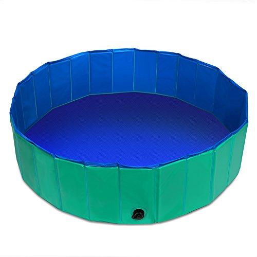Fuloon Hundepool Große Hunde Badewanne Haustier Klappbar Pool Bade für Haustier Schwimmen Pool (Grün Ø120*30cm)