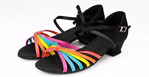 di pelle X cassoncino La da pulizia scarpe mostra prestazioni di colore barra Kraft SQIAO ballo in Scarpe latino ballo color seta da scarpe professionale le borchia barra zYxnqCw