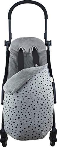 Janabebé Footmuff Sack Made for Pushchairs Twin Baby Stroller Graco, Jogger (Black Star, Fleece) JANABEBE  2