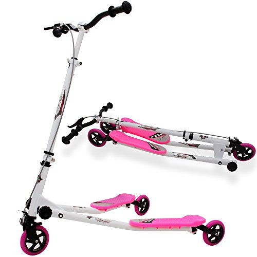 Trottinette Duo 3 Roues - Pliable - Patinette - Rose Fille enfant