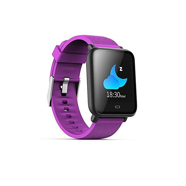 Wysgvazgv Pulsera de Actividad Inteligente, Fitness Tracker con Monitor de Sueño Frecuencia Cardíaca Ritmo Cardíaco… 1