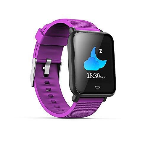 Wysgvazgv Smart-Armband, Fitness-Aktivitätstracker, wasserdicht, IP67, Herzfrequenz, Schlafüberwachung, Schrittzähler, Blutdruck, SMS, SNS Anruf, Alarm Farbdisplay für iOS Android iPhone Frau Mann Pink Iphone Alarm