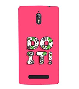 Fabcase typography floral texture self motivation do it Designer Back Case Cover for Oppo Find 7 :: Oppo Find 7 QHD :: Oppo Find 7a :: Oppo Find 7 FullHD :: Oppo Find 7 FHD