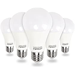 Aigostar - Bombilla LED E27, 12W equivalente a 100W, Luz calida 3000K, 984lm,Ángulo 280°,no regulable - 5 unidades