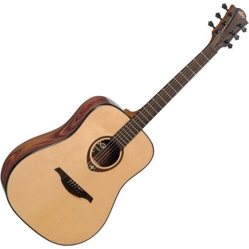 Md guitarra acustica lag dreadnought solid spruce