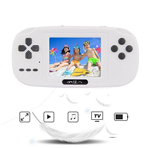Rongyuxuan Consola de Juegos de Mano, Mano Consola 2.8' LCD PVP Plus Juego de Jugador Clásico Consola de Juegos de Mano 168 Juegos en 1 USB Carga Regalo para Niños