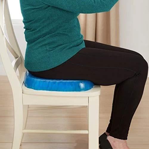 vavci Cojín terapéutico ortopédico de Gel para Sentarse. Cojín ergonómico de Gel de Memoria para Alivio de coxis, Espalda Inferior y ciática. Portátil, para la Oficina, casa, Coche, Silla de Ruedas