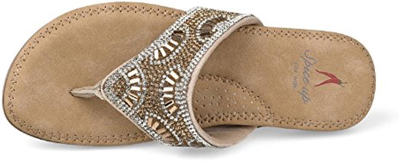 yiwuhu sandales de plage mesdames couleur couleur couleur pantoufles flat tongs respirable (couleur: or, taille: 5 uk) b07hbvj26l parent | Mode  72971c