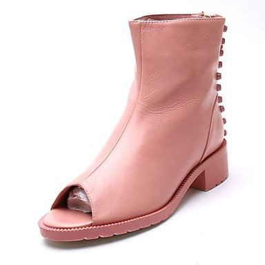 Bottes Hiver Mary Jane Talon Feather occasionnels de PU Blushing Pink