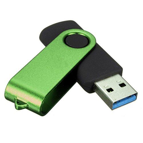 QUINTRA USB 3.0 16GB Flash Drive Speicher Thumb Stick Speicher Stift Disk Digital U Disk (Grün)
